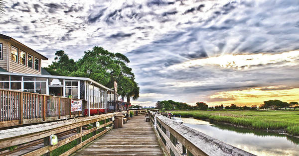 Photograph - Marsh Walk 1 - Murrells Inlet by Mike Covington
