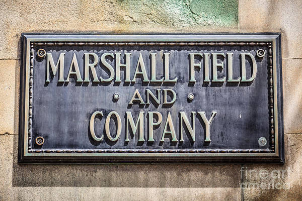 Editorial Photograph - Marshall Field And Company Sign In Chicago by Paul Velgos