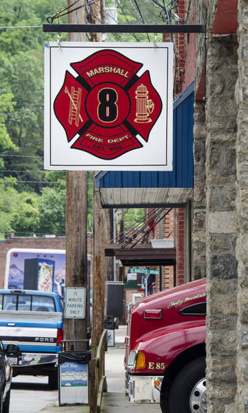 Photograph - Marshall Fire Department by Carolyn Marshall