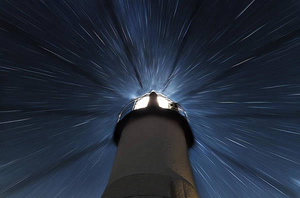 Photograph - Marshall Lighthouse Star Zoom by John Vose