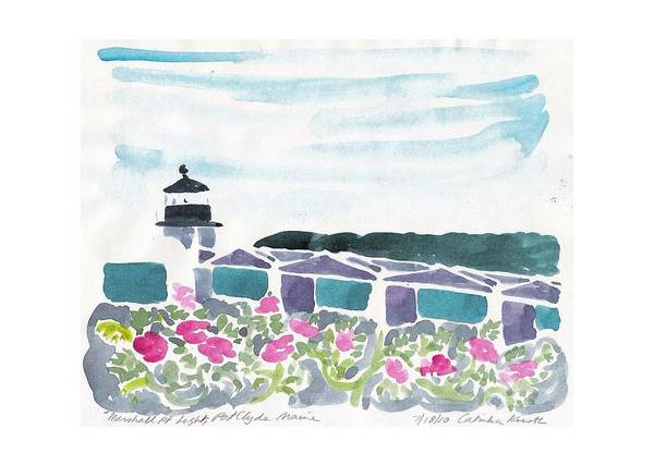 Painting - Marshall Point Beach Roses  by Catinka Knoth
