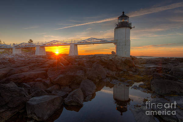 Photograph - Marshall Point Light At Sunrise I by Clarence Holmes