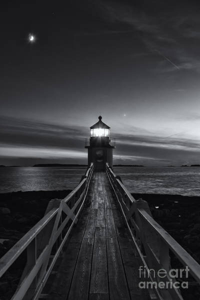 Photograph - Marshall Point Lighthouse At Twilight II by Clarence Holmes