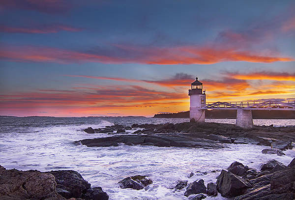 Photograph - Marshall Point Lighthouse Sunset by John Vose