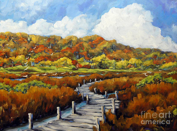 In Canada Painting - Marshlands In Fall By Prankearts by Richard T Pranke