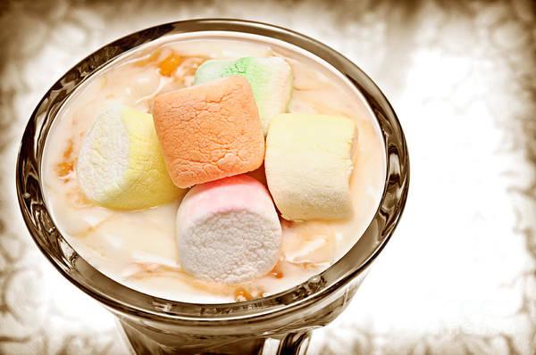 Photograph - Marshmallow Peach Yogurt Parfait by Andee Design