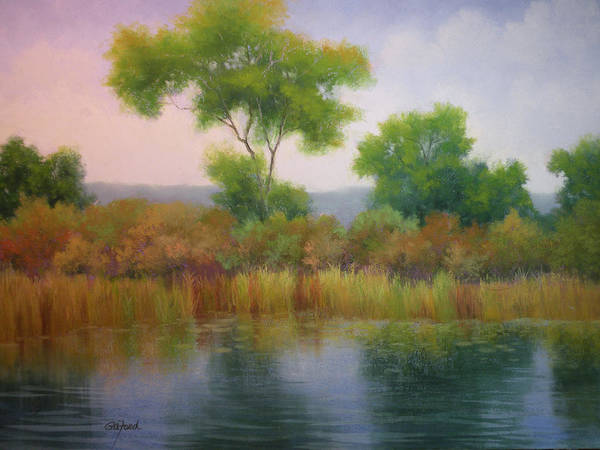 Wall Art - Painting - Marshy Oasis by Paula Ann Ford