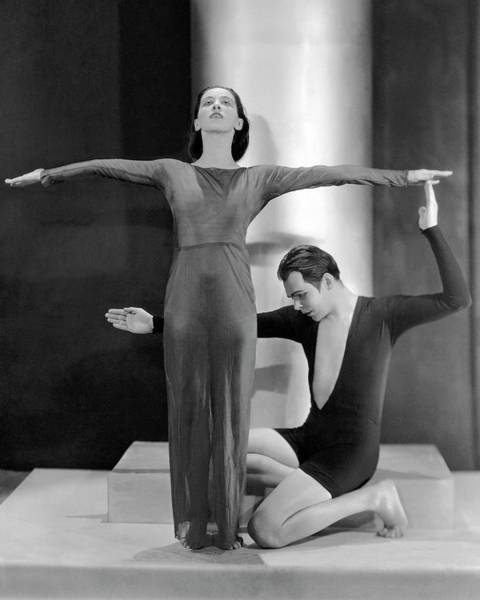 Dance Photograph - Martha Graham Posing With Charles Weidman by Nickolas Muray