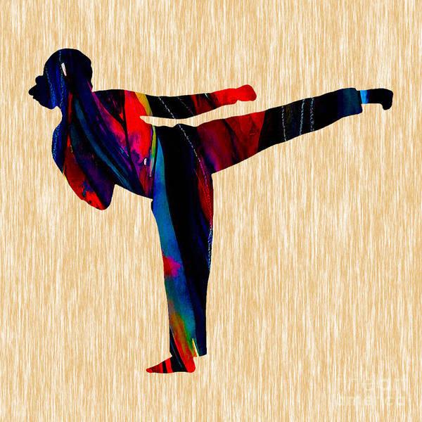 Wall Art - Mixed Media - Martial Arts Karate by Marvin Blaine