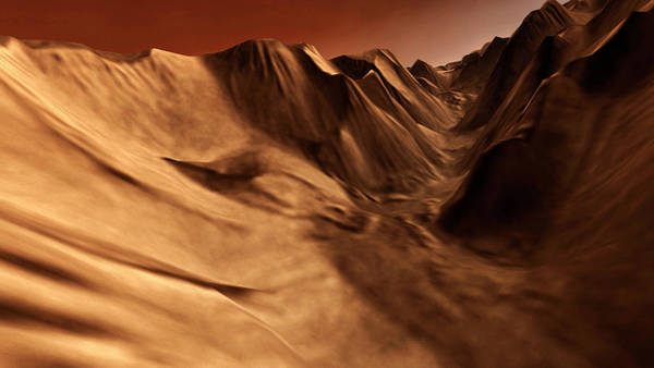 Wall Art - Photograph - Martian Canyon by Nasa/jpl/arizona State University/science Photo Library