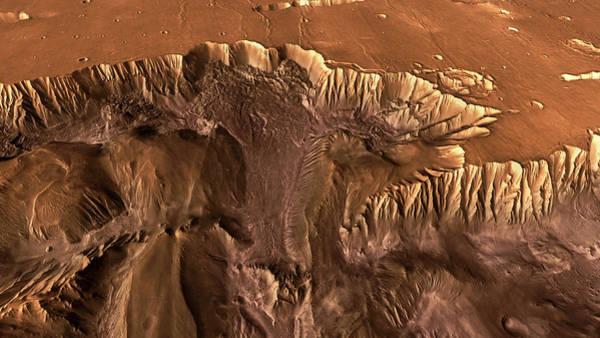 Wall Art - Photograph - Martian Canyon Rim by Nasa/jpl/arizona State University/science Photo Library