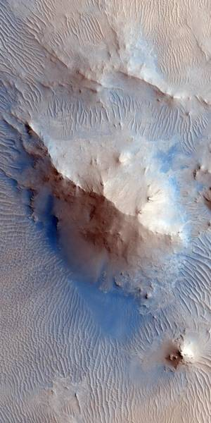 Uplift Photograph - Martian Crater Uplift by Nasa/jpl/university Of Arizona/science Photo Library