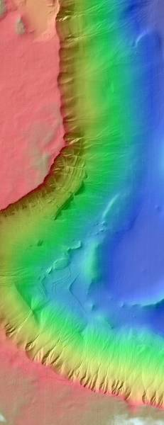 Gully Photograph - Martian Gullies by Nasa