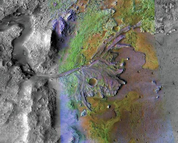 River Delta Photograph - Martian River Delta by Nasa/jpl/jhuapl/msss/brown University/science Photo Library