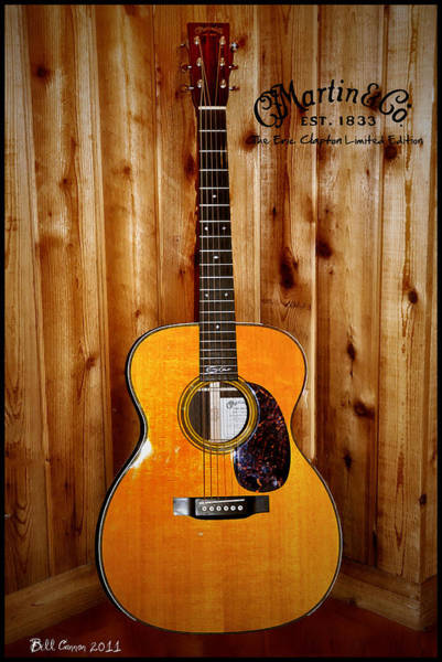 Limited Edition Wall Art - Photograph - Martin Guitar - The Eric Clapton Limited Edition by Bill Cannon