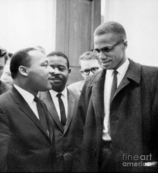 Photograph - Martin Luther King And Malcolm X by Celestial Images