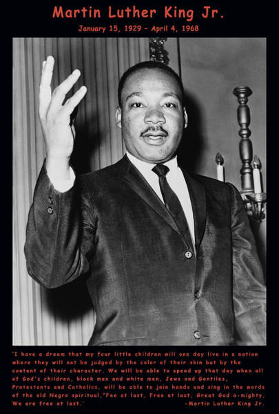 Digital Art - Martin Luther King Jr by Official Government Photograph