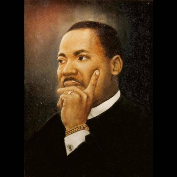 Wall Art - Painting - Martin Luther King Jr. by Saundra Bolen Samuel