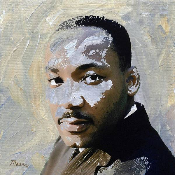 Mlk Digital Art - Martin Luther King by Linda Mears