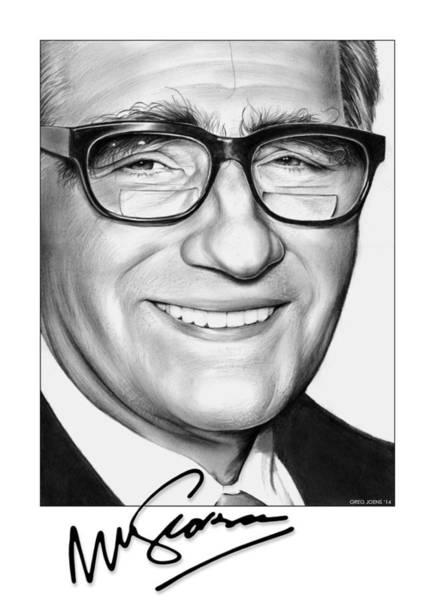 Graphite Drawing - Martin Scorsese by Greg Joens