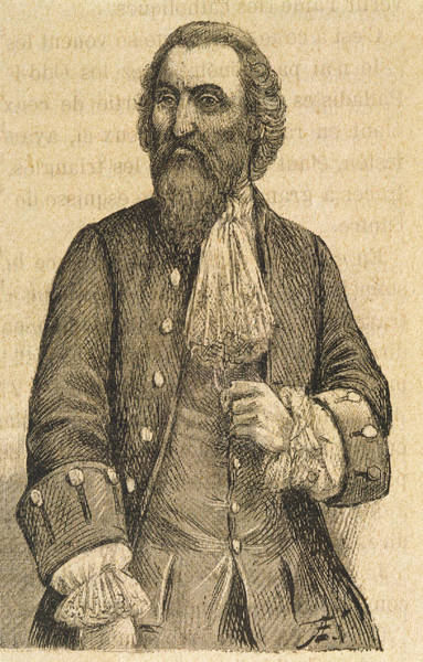 1715 Drawing - Martinez Pasqually  French Founder by Mary Evans Picture Library