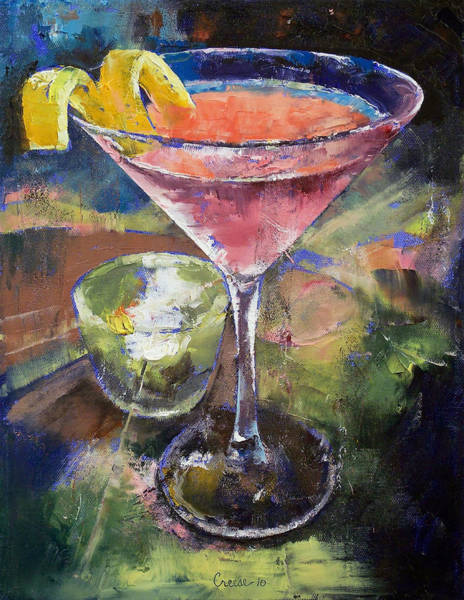 Martini Glasses Painting - Martini by Michael Creese