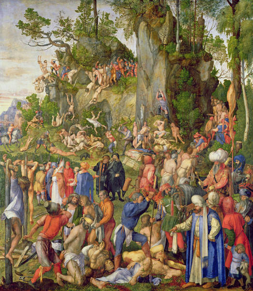 Wall Art - Painting - Martyrdom Of The Ten Thousand, 1508 by Albrecht Durer or Duerer