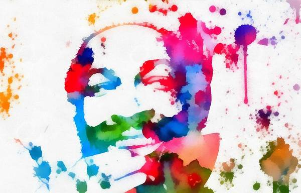 Painting - Marvin Gaye Paint Splatter by Dan Sproul