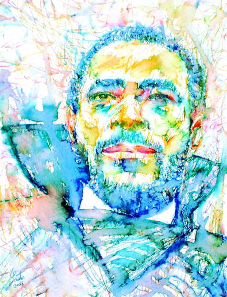 Jazz-funk Painting - Marvin Gaye - Portrait by Fabrizio Cassetta