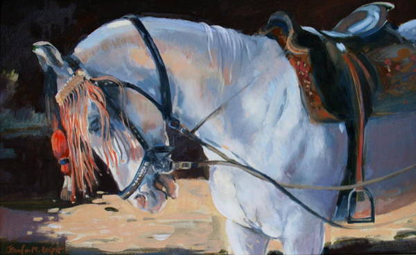Reins Painting - Marwari Horse by Jennifer Wright