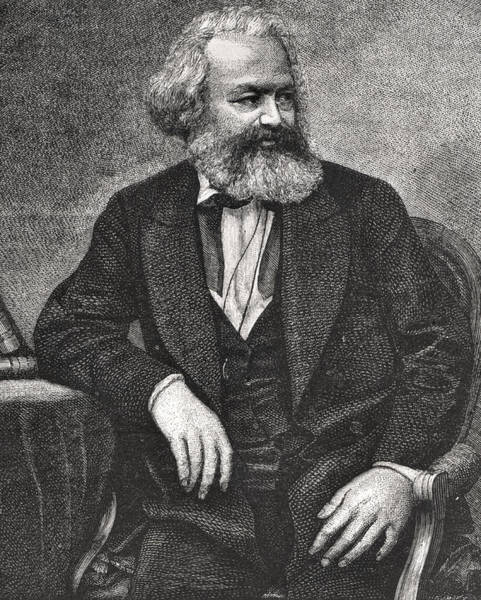 Communist Painting - Marx by French School