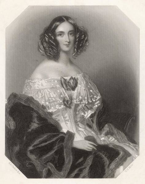 Wall Art - Drawing - Mary Anne (nee Evans)  (mrs Wyndham by Mary Evans Picture Library
