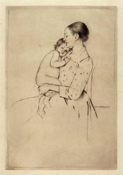 Wall Art - Drawing - Mary Cassatt, Quietude, American, 1844 - 1926 by Quint Lox