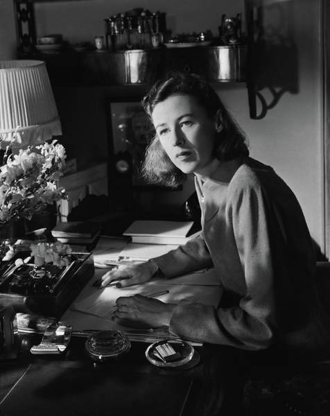 Wall Art - Photograph - Mary Cushing At A Desk by Horst P. Horst