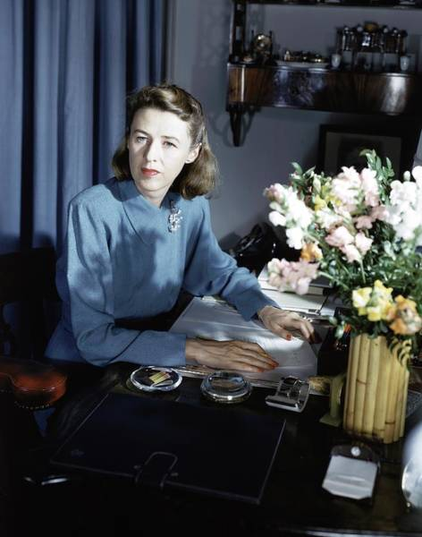 Desk Photograph - Mary Cushing At Her Desk by Horst P. Horst