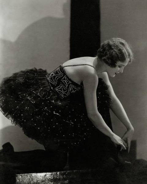 Bending Over Photograph - Mary Eaton Wearing A Tutu by Edward Steichen