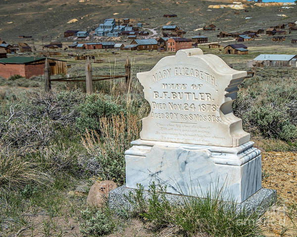 Bodie Ghost Town Wall Art - Photograph - Mary Elizabeth by Stephen Whalen