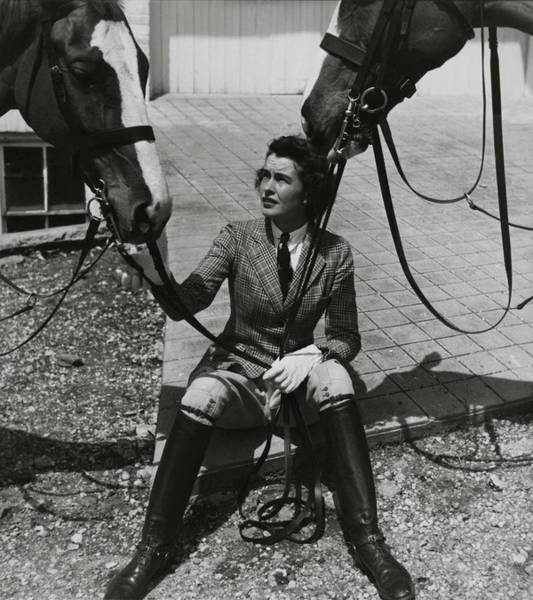 Boots Photograph - Mary Goetchius With Horses by Toni Frissell