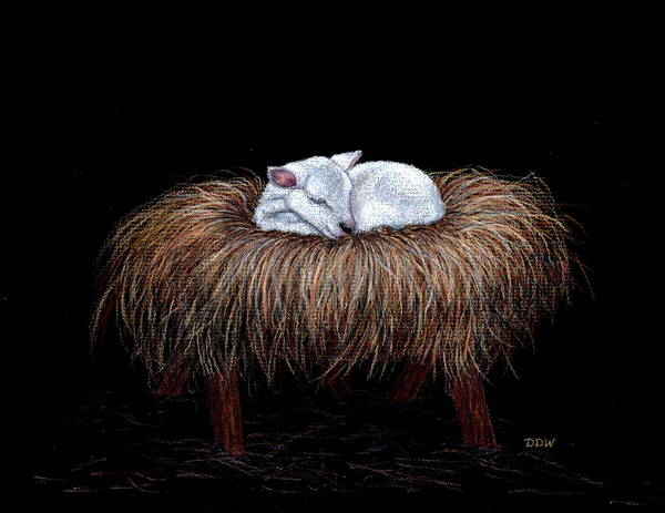 Lamb Of God Wall Art - Painting - Mary Had A Little Lamb by Dee Dee  Whittle