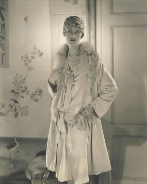 Scallop Photograph - Mary Heberdeen Wearing A Paquin Dress by Edward Steichen