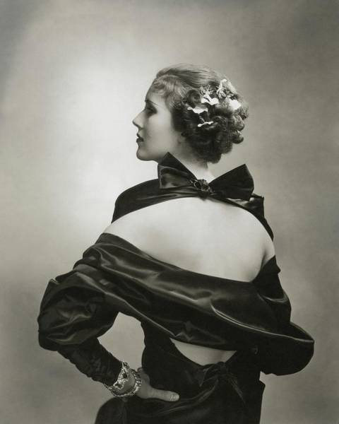 Plant Photograph - Mary Heberden Wearing A Satin Dress by Edward Steichen