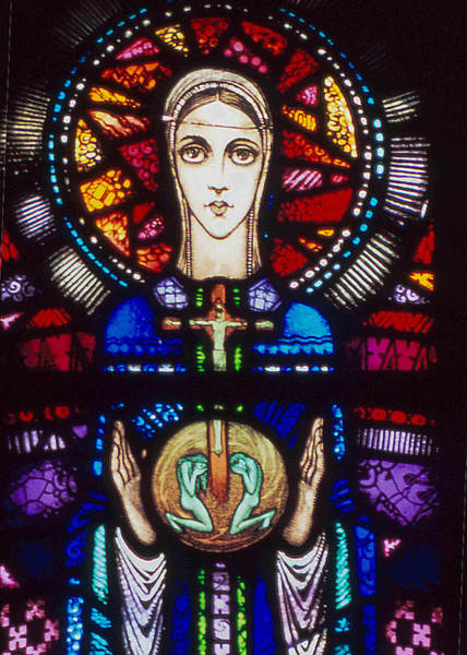 Wall Art - Photograph - Mary In Stained Glass By Harry Clarke by Philip Ralley