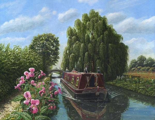 Wall Art - Painting - Mary Jane Chesterfield Canal Nottinghamshire by Richard Harpum