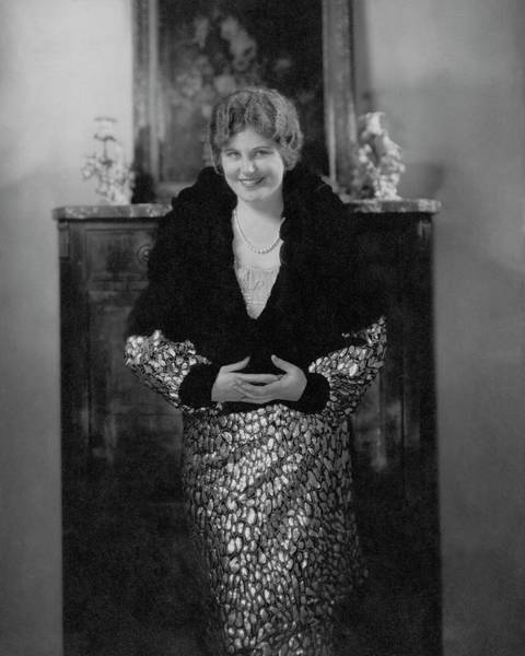 Wall Art - Photograph - Mary Lewis Wearing A Dress And Caplet by Edward Steichen