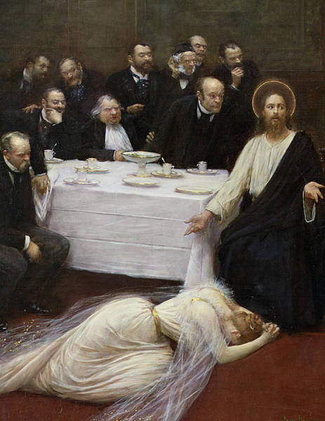 In Service Painting - Mary Magdalene In The House Of The Pharisee by Jean Beraud