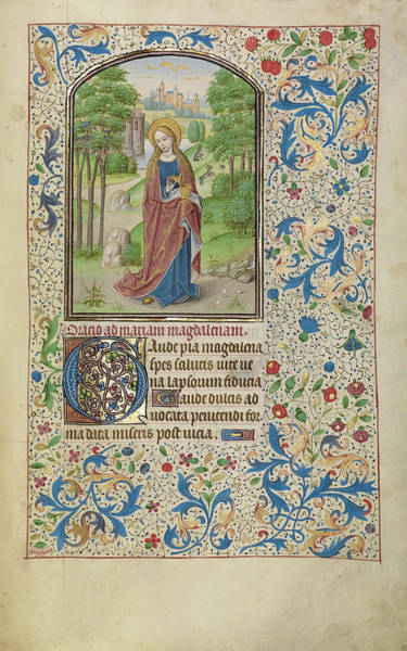 Wall Art - Drawing - Mary Magdalene Willem Vrelant, Flemish, Died 1481 by Litz Collection