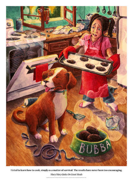 Leash Painting - Mary Mary Quite On Great Meals by David Condry
