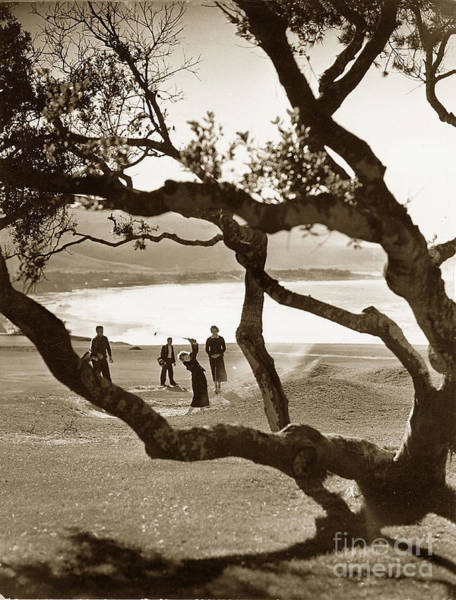 Photograph - Mary Morse At The 13th Hole Daughter Of S F B Morse Circa 1935 by California Views Archives Mr Pat Hathaway Archives