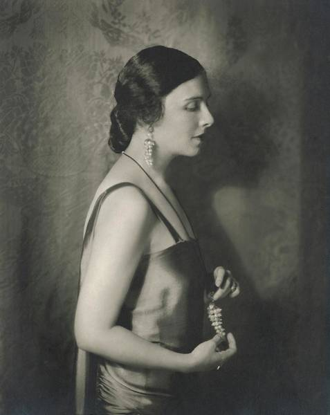 Grape Photograph - Mary Nash Wearing Jewellery By Marie El Khoury by Edward Steichen