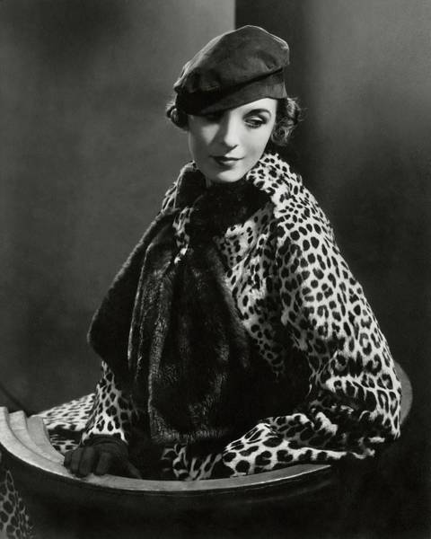 Glamour Photograph - Mary Oakes Wearing Revillon Freres On A Chair by Edward Steichen